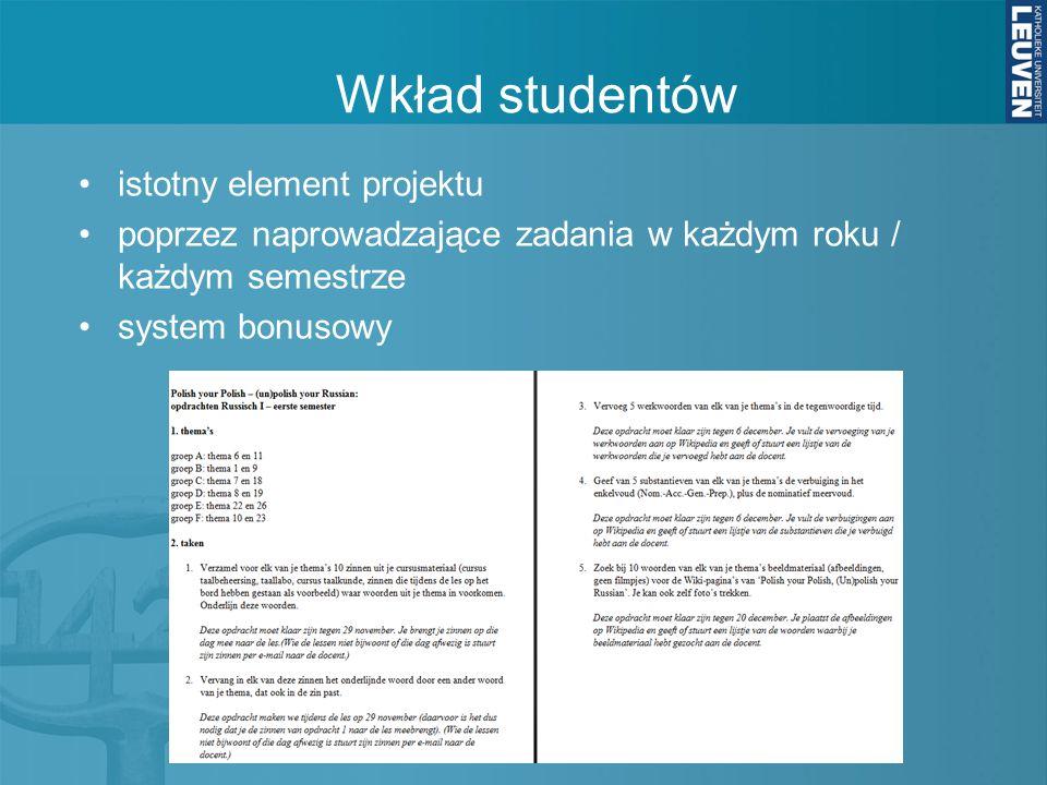 Wkład studentów istotny element projektu