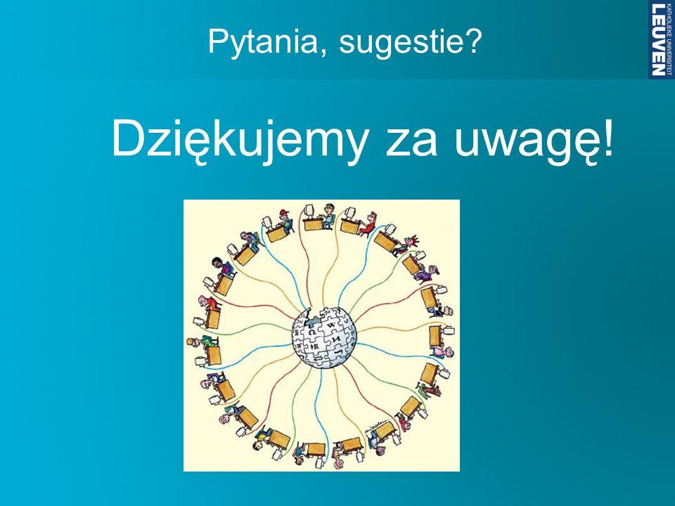 Dziękujemy za uwagę! Pytania, sugestie ulka.delbroek@arts.kuleuven.be