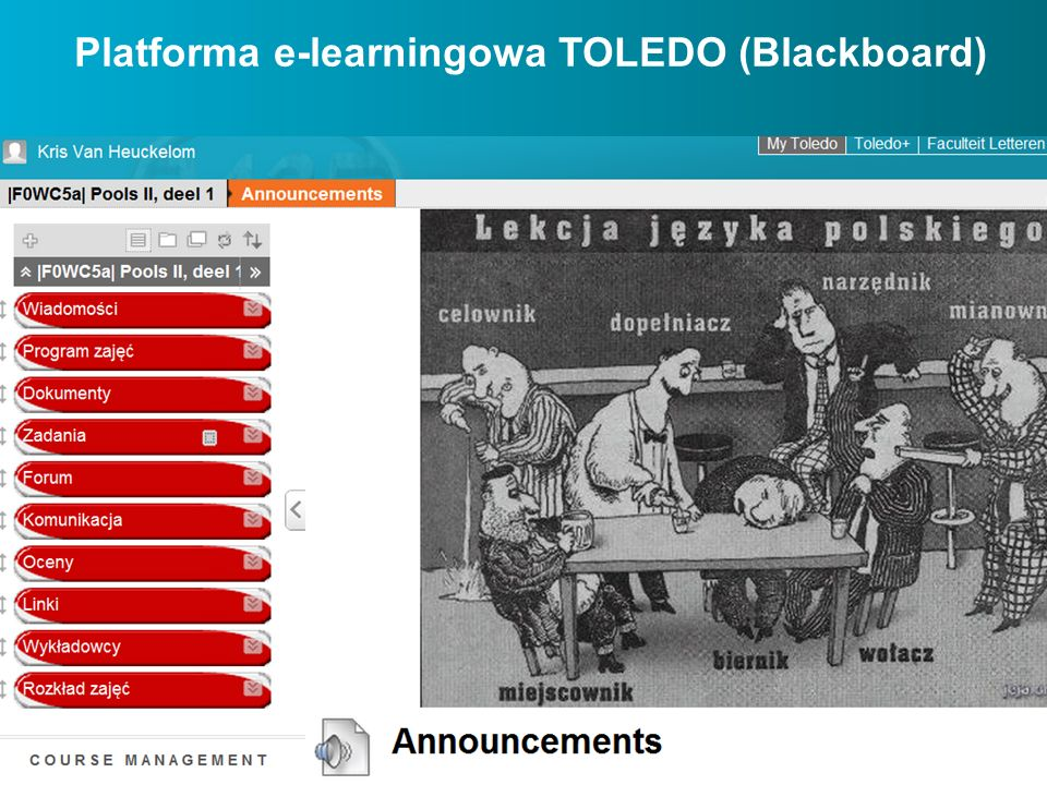 Platforma e-learningowa TOLEDO (Blackboard)