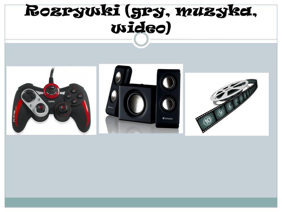 Rozrywki (gry, muzyka, wideo)