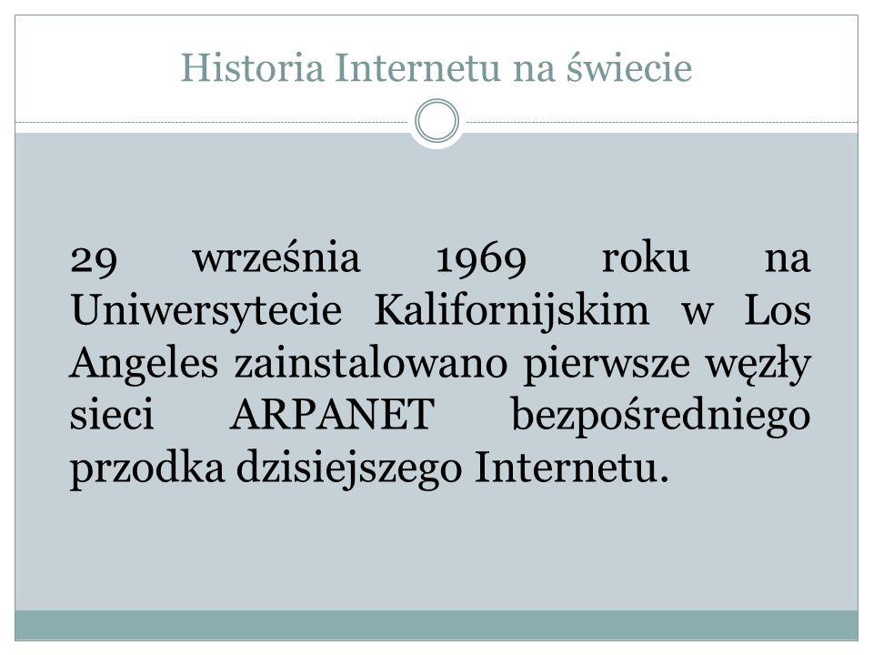 Historia Internetu na świecie