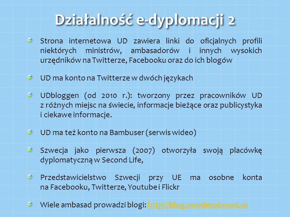 Działalność e-dyplomacji 2