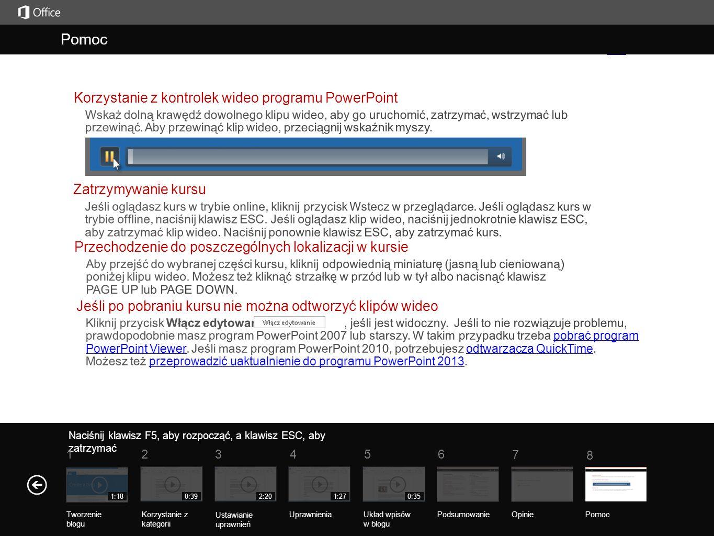 Pomoc Pomoc Korzystanie z kontrolek wideo programu PowerPoint