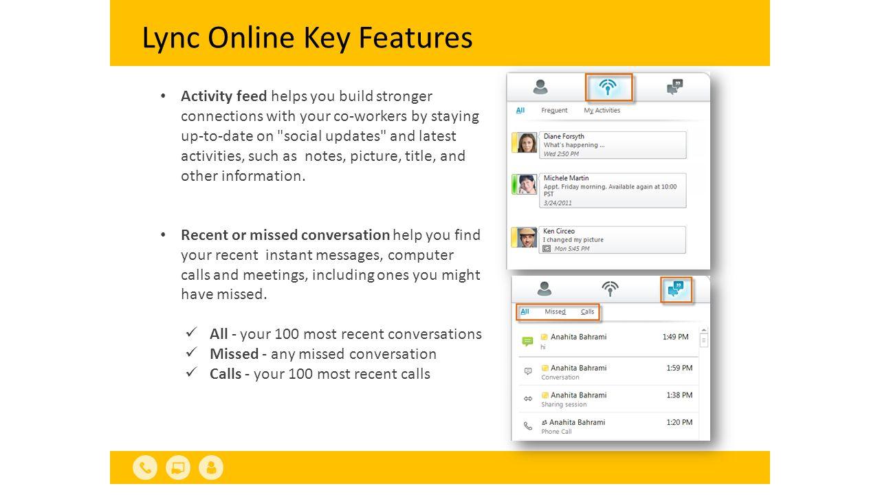 Lync Online Key Features