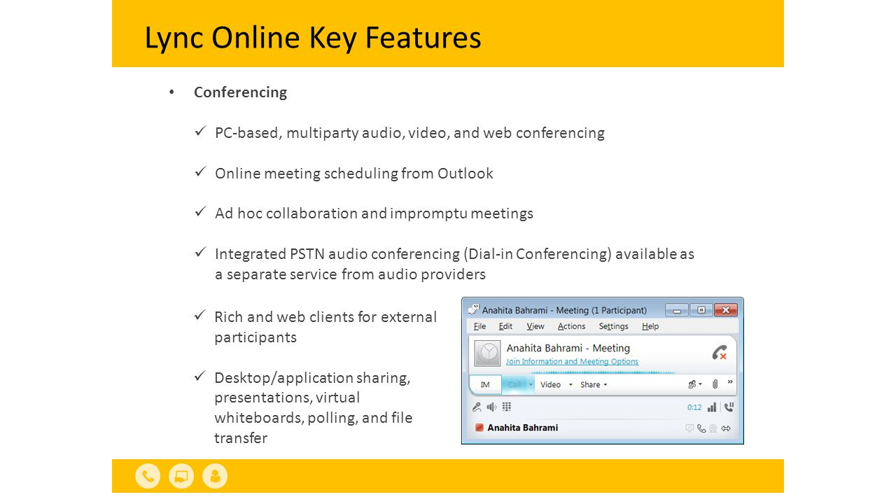 Lync Online Key Features