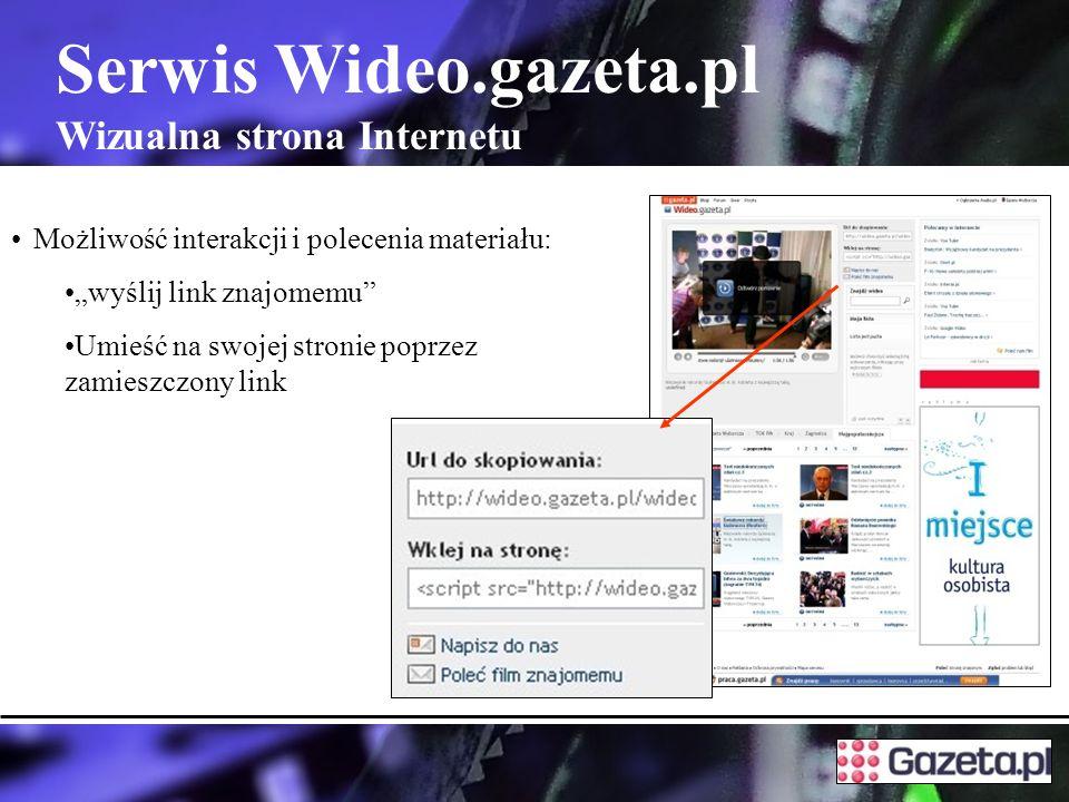 Serwis Wideo.gazeta.pl Wizualna strona Internetu