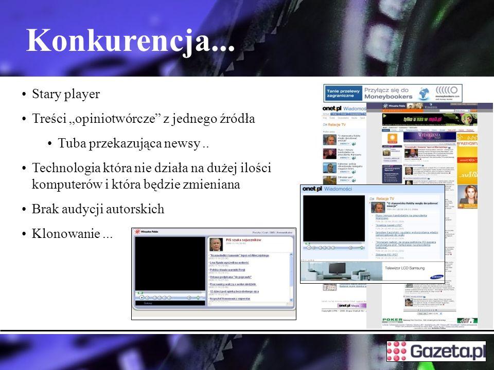 """Konkurencja... Stary player Treści """"opiniotwórcze z jednego źródła"""