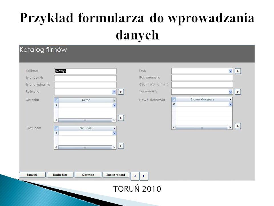 Przykład formularza do wprowadzania danych