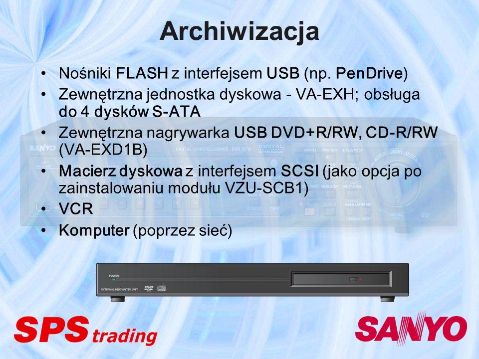 Archiwizacja Nośniki FLASH z interfejsem USB (np. PenDrive)