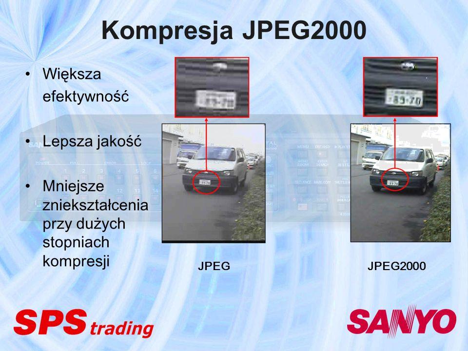 Kompresja JPEG2000 Większa efektywność Lepsza jakość
