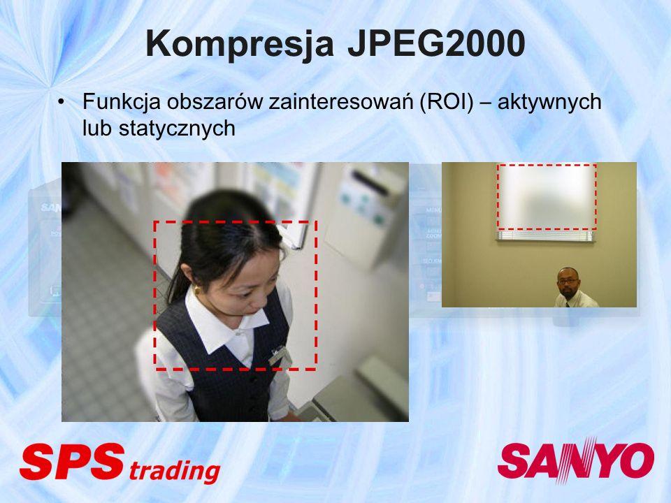 Kompresja JPEG2000 Funkcja obszarów zainteresowań (ROI) – aktywnych lub statycznych