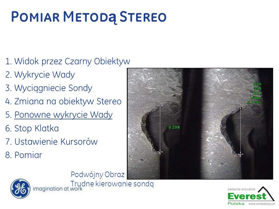 Pomiar Metodą Stereo 1. Widok przez Czarny Obiektyw 2. Wykrycie Wady
