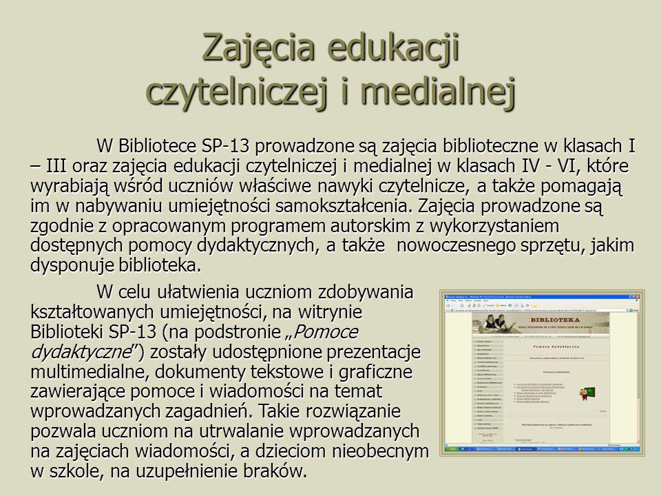 Zajęcia edukacji czytelniczej i medialnej