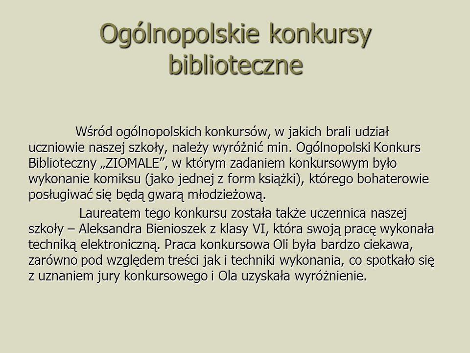 Ogólnopolskie konkursy biblioteczne