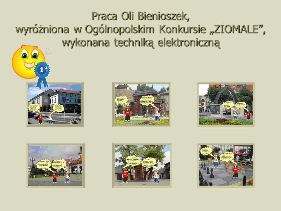 """Praca Oli Bienioszek, wyróżniona w Ogólnopolskim Konkursie """"ZIOMALE , wykonana techniką elektroniczną"""
