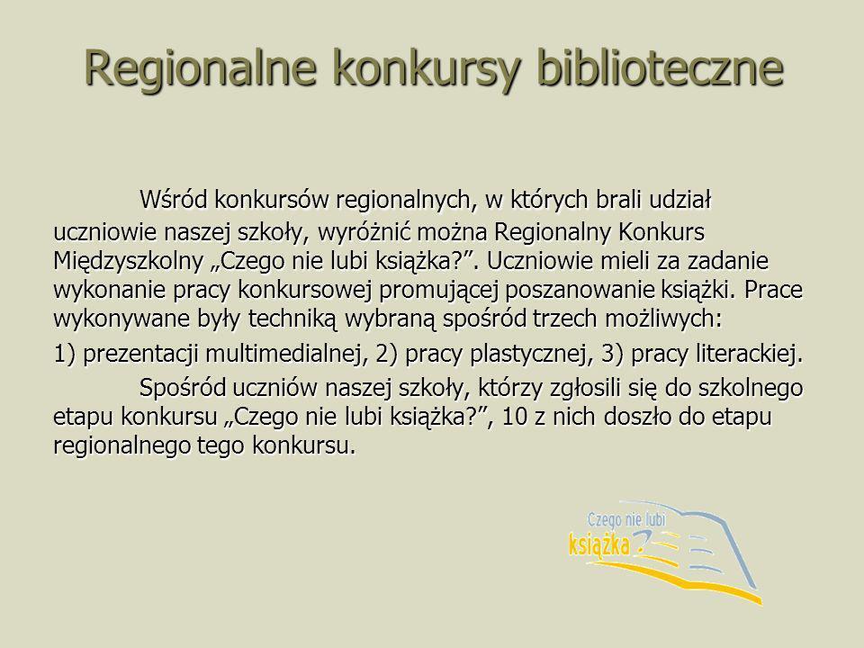 Regionalne konkursy biblioteczne
