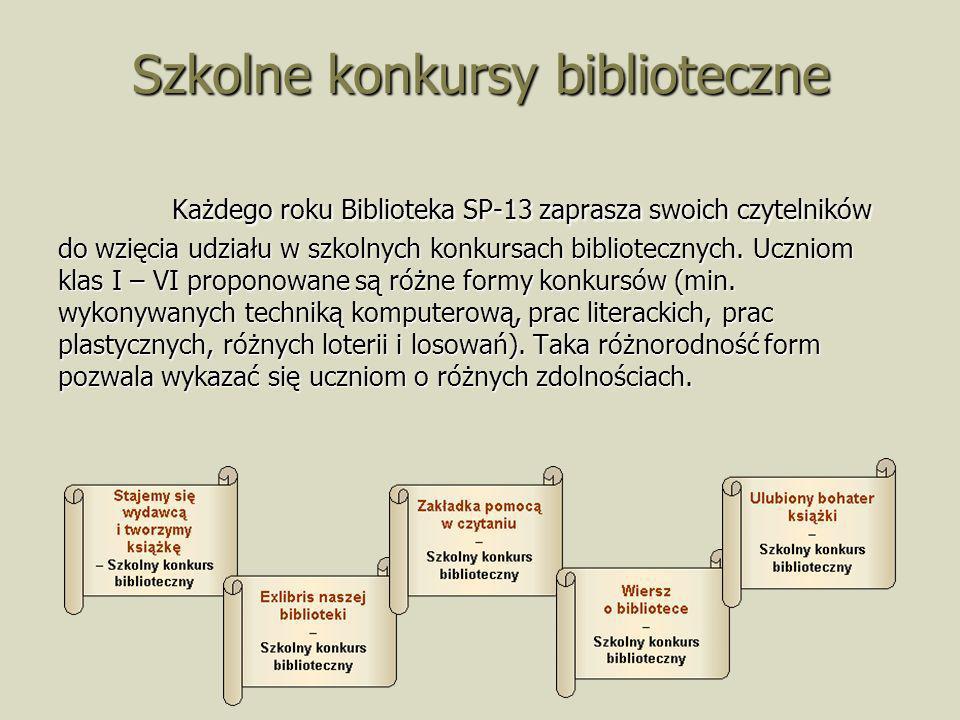 Szkolne konkursy biblioteczne