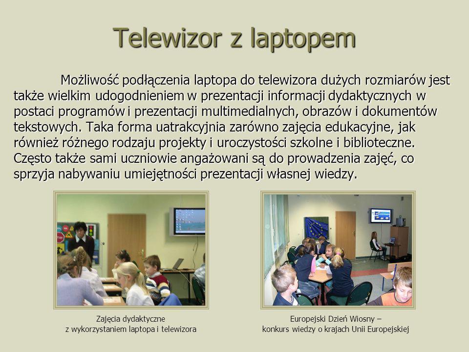 Telewizor z laptopem