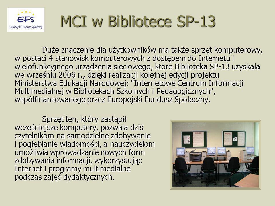 MCI w Bibliotece SP-13