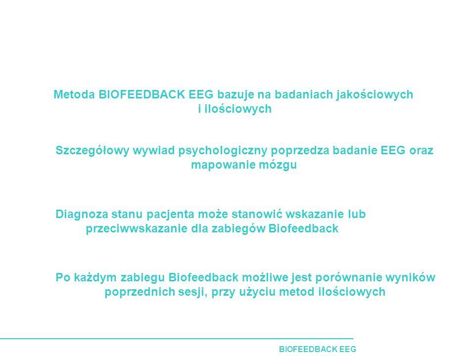 Metoda BIOFEEDBACK EEG bazuje na badaniach jakościowych i ilościowych