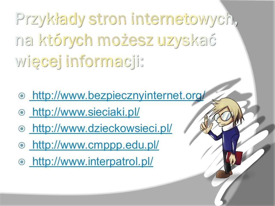 Przykłady stron internetowych, na których możesz uzyskać więcej informacji: