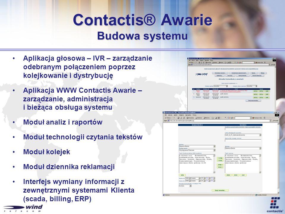 Contactis® Awarie Budowa systemu