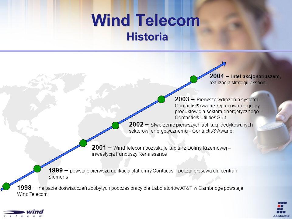 Wind Telecom Historia2004 – Intel akcjonariuszem, realizacja strategii eksportu.