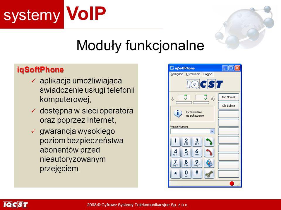 Moduły funkcjonalne iqSoftPhone