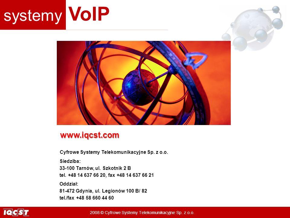 www.iqcst.com Cyfrowe Systemy Telekomunikacyjne Sp. z o.o. Siedziba: