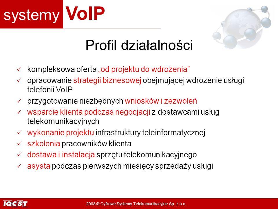 """Profil działalności kompleksowa oferta """"od projektu do wdrożenia"""