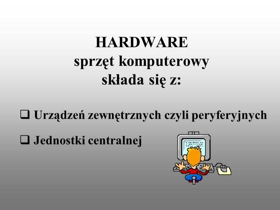 HARDWARE sprzęt komputerowy składa się z: