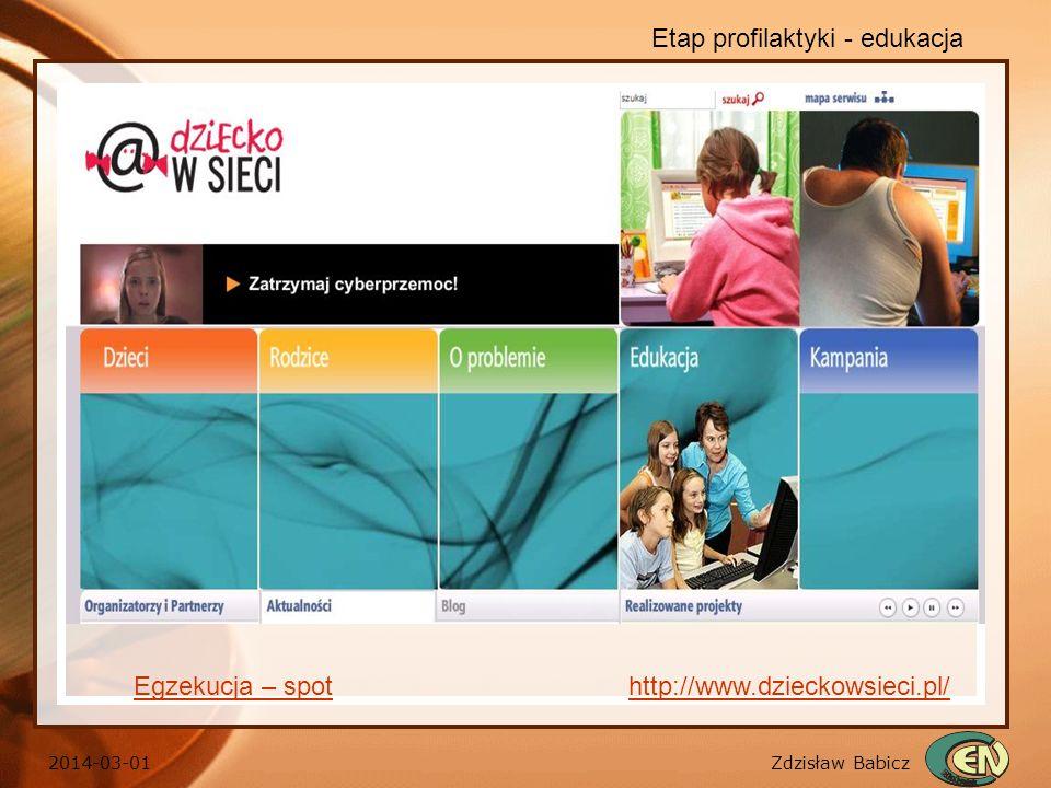 Etap profilaktyki - edukacja