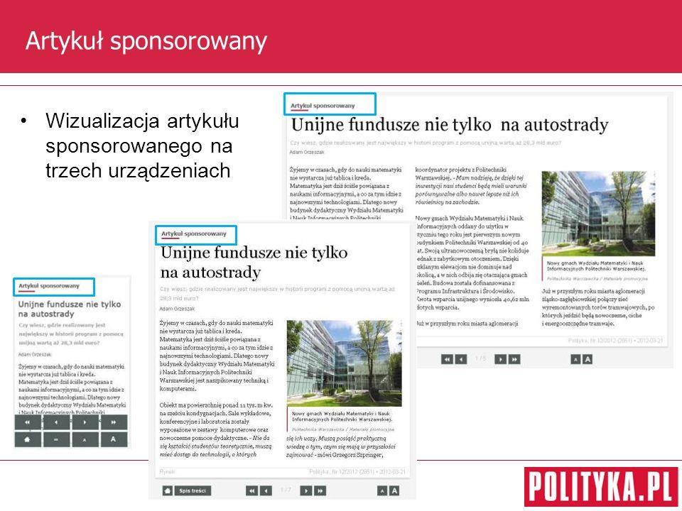 Artykuł sponsorowany Wizualizacja artykułu sponsorowanego na trzech urządzeniach