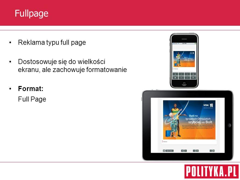 Fullpage Reklama typu full page