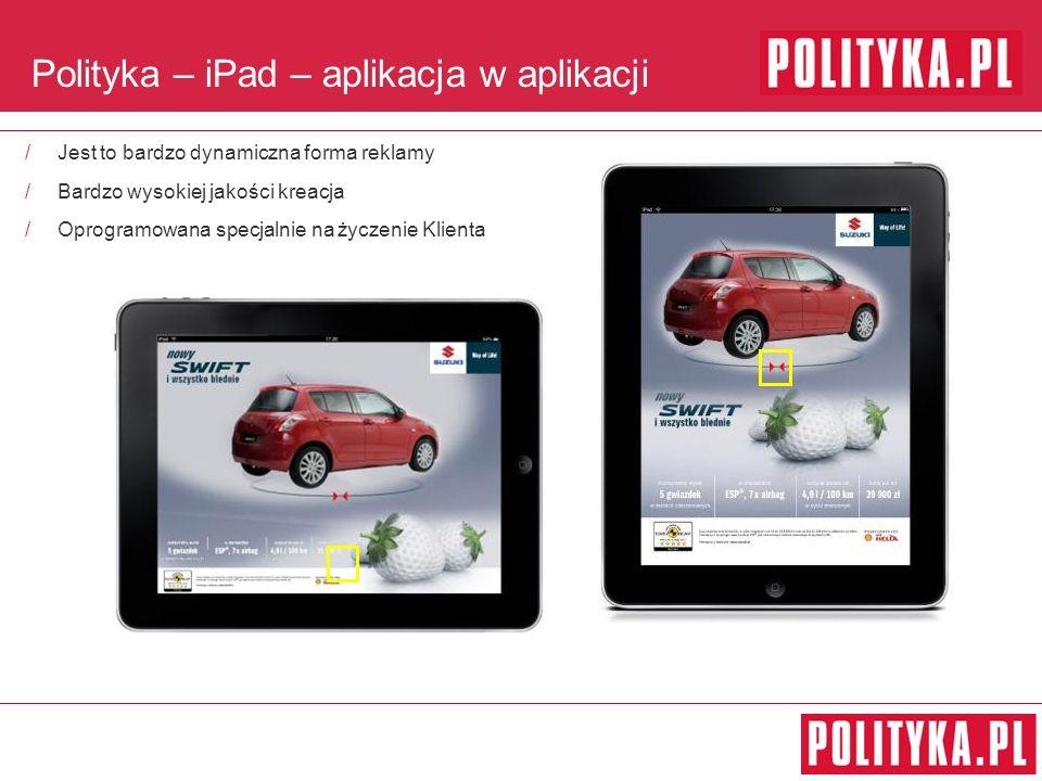 Polityka – iPad – aplikacja w aplikacji