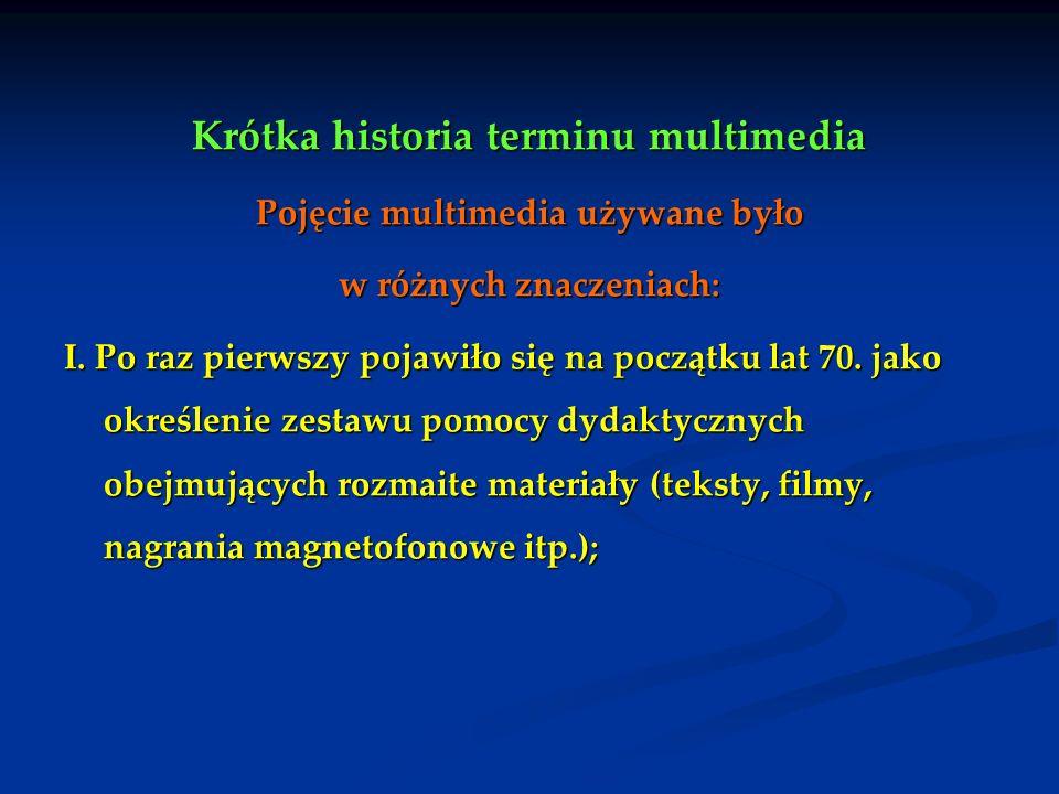 Krótka historia terminu multimedia