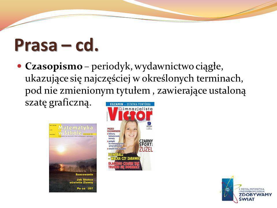 Prasa – cd.