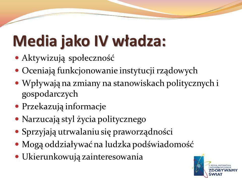 Media jako IV władza: Aktywizują społeczność