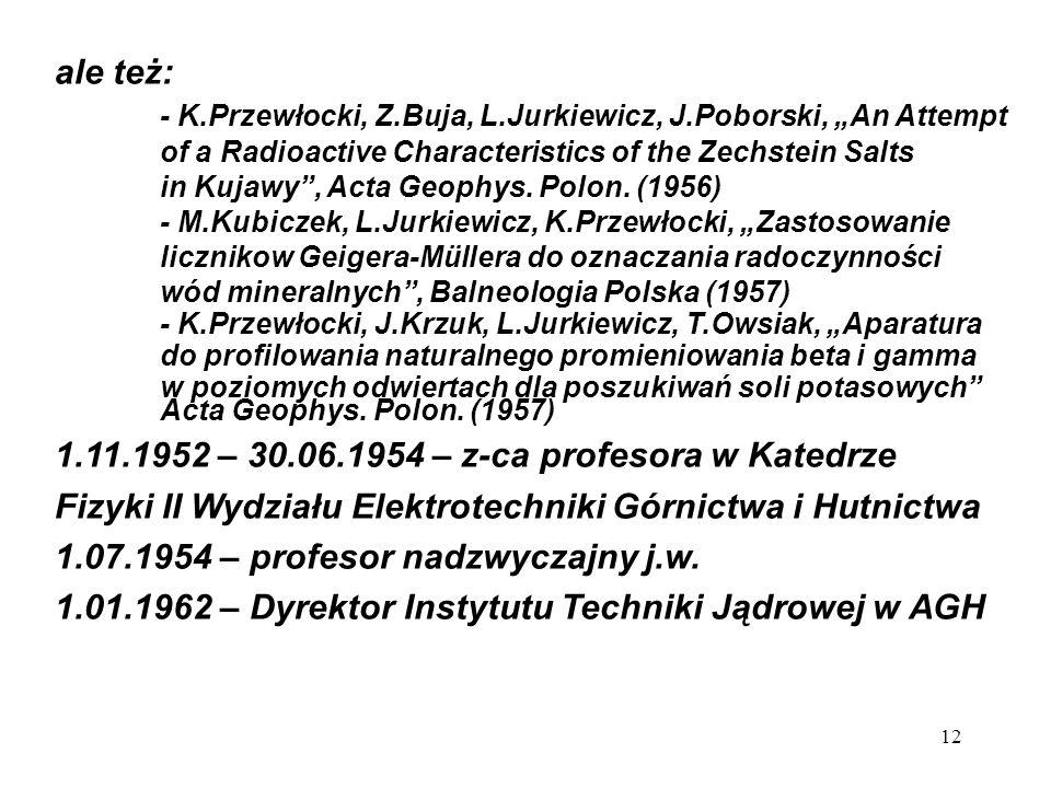 """- K.Przewłocki, Z.Buja, L.Jurkiewicz, J.Poborski, """"An Attempt"""