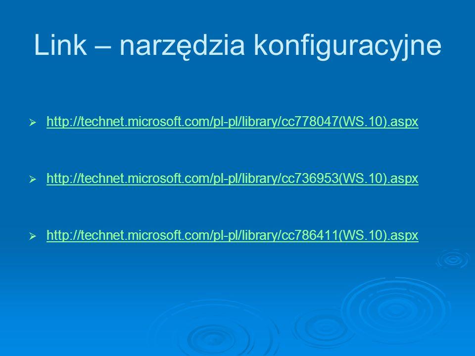 Link – narzędzia konfiguracyjne