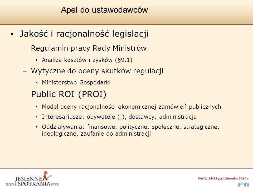 Jakość i racjonalność legislacji