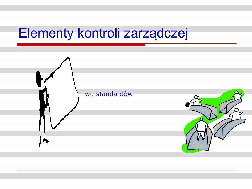 Elementy kontroli zarządczej