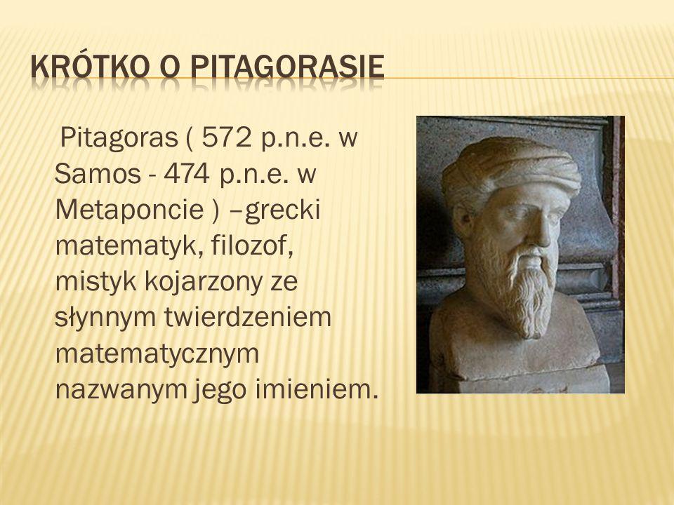 Krótko o pitagorasie
