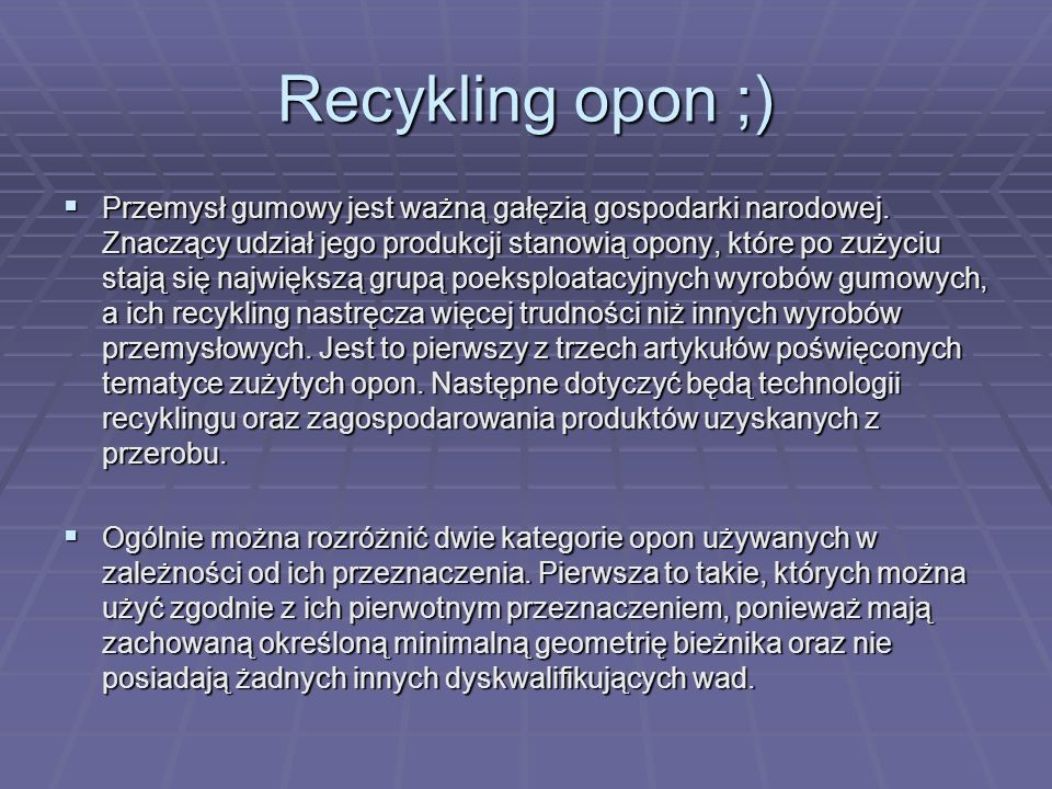 Recykling opon ;)