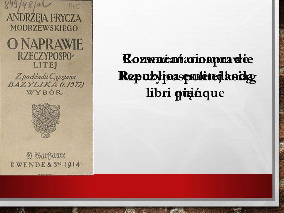Commentariorum de Republica emendanda libri quinque