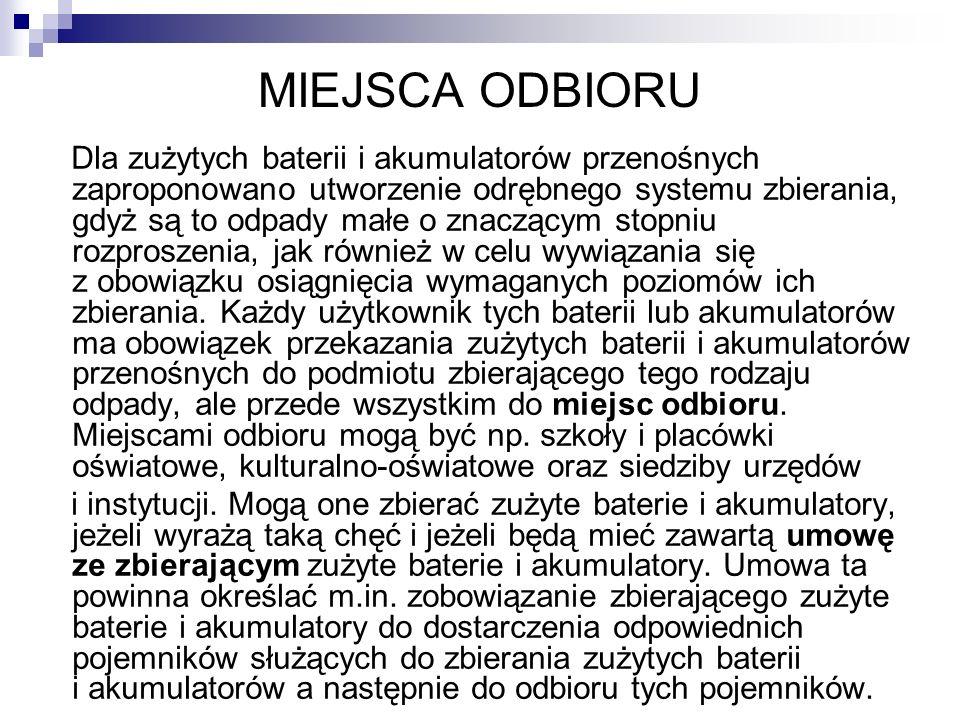 MIEJSCA ODBIORU