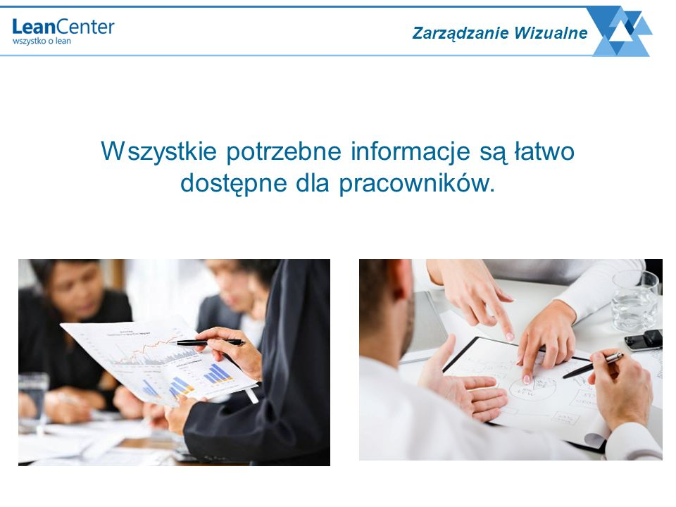 Wszystkie potrzebne informacje są łatwo dostępne dla pracowników.