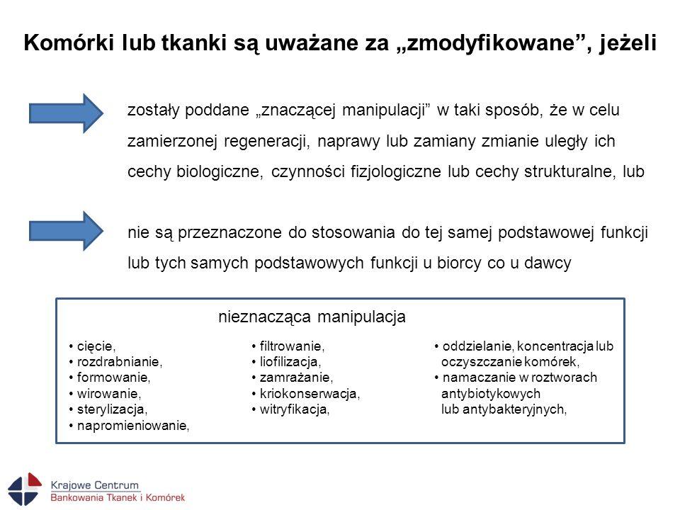 """Komórki lub tkanki są uważane za """"zmodyfikowane , jeżeli"""