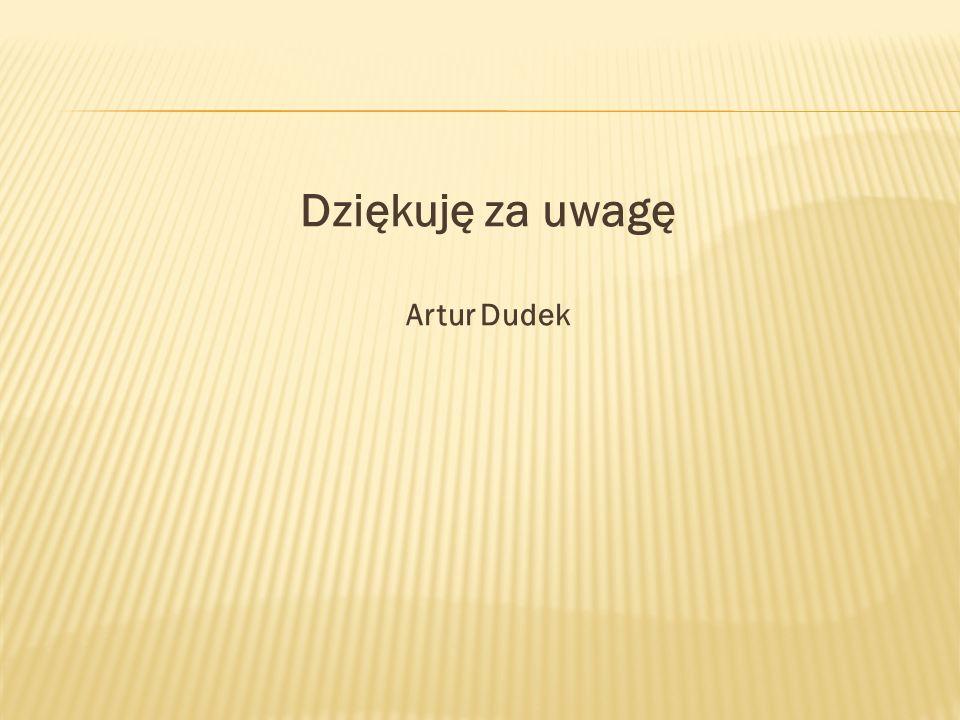 Dziękuję za uwagę Artur Dudek