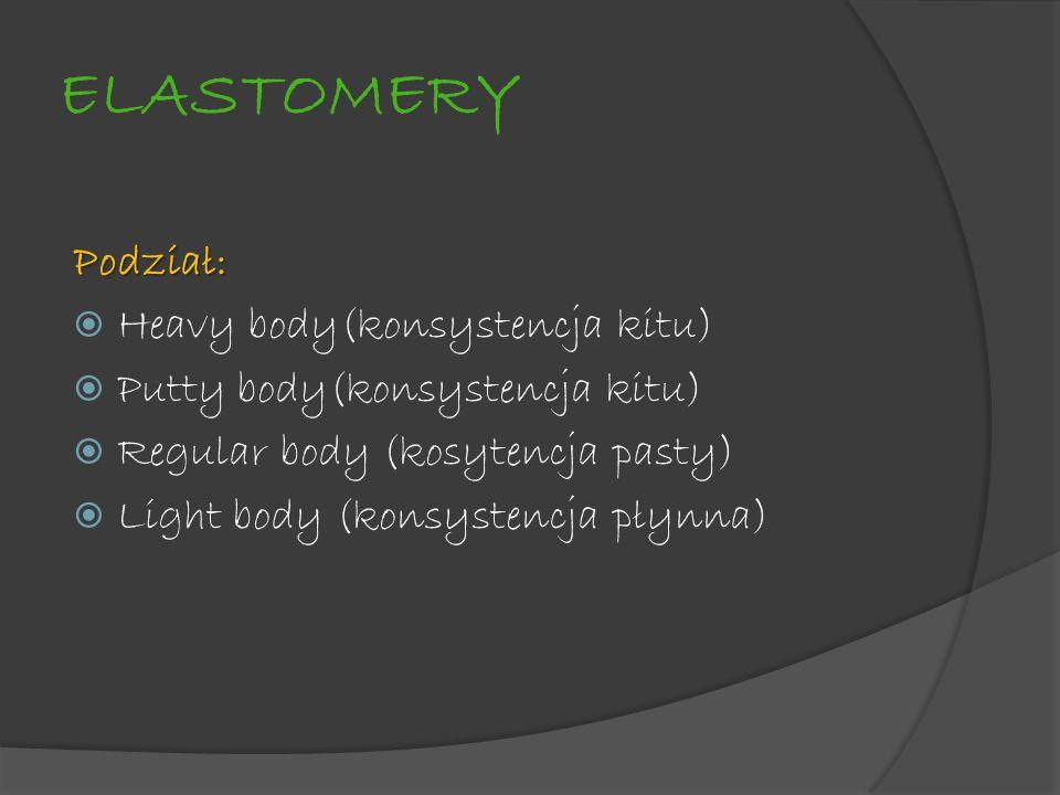 ELASTOMERY Podział: Heavy body(konsystencja kitu)